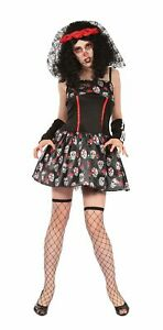 Day of the Dead Skeleton Womens Costume Party Dress Outfit