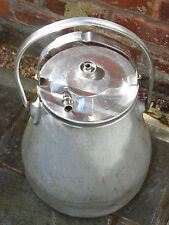 Vintage Aluminium Milk Churn Milker Can & Attachments Garden Feature/Planter
