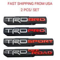 2X TRD PRO/OFF ROAD/BRO/SPORT Door Emblem Sticker Badge For Toyota Tacoma OEM