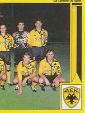 N°005 TEAM 2/2 AEK ATHENS GREECE HELLAS PANINI GREEK LEAGUE FOOT 95 STICKER 1995