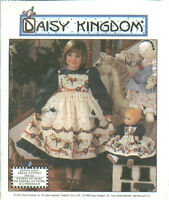 S 7304 sewing pattern Daisy Kingdom DRESS PINAFORE Doll OUTFIT sew sizes 3,4,5,6