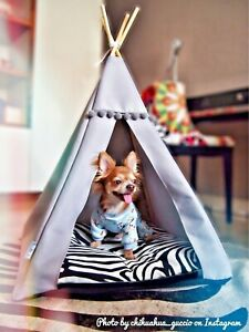 Dog tent - Zebra style, dog waterproof bed including pillow with non-slip base