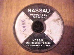 4.5 lbs Spool Nassau Smelting & Refining Co. Rosin Core Solder Spec 7076.