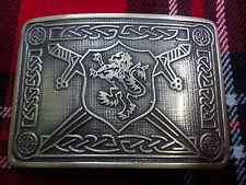 TC Men's Kilt Belt Buckle Saltire Lion Rampant Antique/Lion Rampant Kilt Buckles