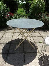 ANCIENNE TABLE DE JARDIN  RONDE  PLIANTE