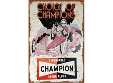 NEW Champion Dragster tin metal sign