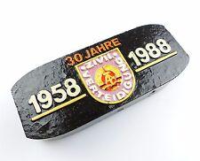 #e5345 DDR (Zier-) Kohle Brikett 30 Jahre Zivilverteidigung 1958 - 1988