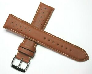 RALLY SPORT HAND MADE QUALITY WATCH STRAP BROWN 18MM 20MM 22MM ROCHET FRANCE