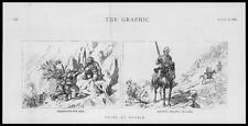 1885 Antiguo Print-África suakim montado infantería oro extractiva (14)
