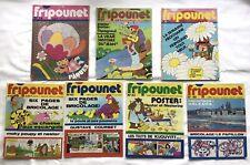 JOURNAL FRIPOUNET VINTAGE 1977 LOT 7 REVUES BD JEUX ILLUSTRÉ BRICOLAGE ENFANTINA
