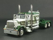 "1/64 DCP GREEN/WHITE PETERBILT 379 63"" FLATTP SLEEPER"