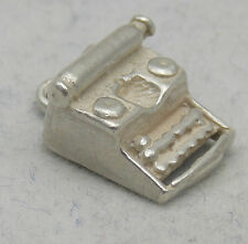 3D STERLING SILVER TYPE WRITER CHARM