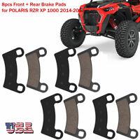 8pcs Front + Rear Brake Pads for POLARIS UTV RZR XP 1000 2014-2017 FL7812SP133HY
