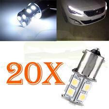 20x 5050 4000K White 1156 BA15S RV Trailer Interior 12V LED Lights Bulbs 13 SMD