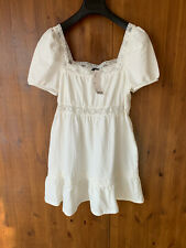 RRP £39 - URBAN OUTIFTTERS SUMMER MINI BOHO DRESS White S / UK 8-10 - NEW