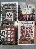 Lot 4) CHRISTMAS QUILTING Books-mags Country Christmas-gingerbread-stockings