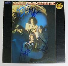 """THE GUESS WHO Signed Autograph """"American Woman"""" Album LP by All 4 Members"""