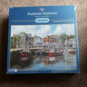 GIBSONS 1000 piece jigsaw puzzle  Padstow Harbour New sealed