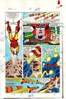 Original 1984 Iron Man 181 page 15 Marvel Comics color guide art:1980's Mandarin