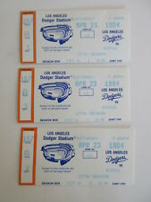 lot of 3  LOS ANGELES DODGER vs MONTREAL EXPOS TICKET STUBS APRIL 23, 1994