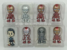 HOT TOYS MINI COSBABY IRON MAN MARK I/II/III/IV/V/VI/VII & TONY STARK SET OF 8