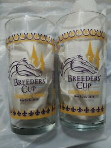 TWO 2018 Breeders Cup Official CHURCHILL DOWNS Glasses  NEW