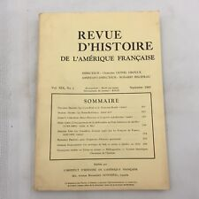 SEPTEMBRE 1965 BOOK-REVUE D'HISTOIRE DE L'AMERIQUE FRANCAISE-VOL. XIX, NO. 2