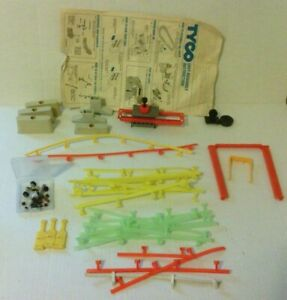 Vintage Tyco / Aurora Track HO Scale Guard rails, supports, ETC.  See pics.