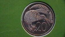 "1981 NEW ZEALAND 20 CENTS GEM BRILLIANT UNCIRCULATED ""SPECIMEN""STRIKE 627B5"