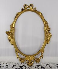 Antique French Gilded Bronze Furniture Pediment Decoration - Musician Female