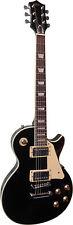 E-chitarra, modello lsc2 nero con vercromter hardware in lucido, piena di legno! N
