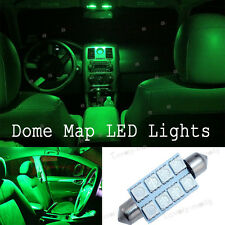 2X Xenon Green 42mm 578 LED 211-2 212 Bulbs Festoon 5050 Dome Map Cargo Lights