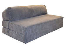 SOFABED JAZZ - DA VINCI CORD Deluxe Double Sofa / Bed Chair (Charcoal)
