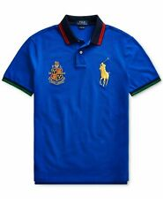 Ralph Lauren Polo Big Pony Embroidered Mesh Rugby Polo Shirt Custom Slim Fit L