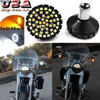 2PCS Switchback 1157 48-SMD LED DRL&Turn Signal Lights Bulbs For Harley Davidson