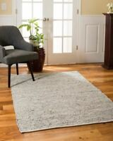 Anchor Gray Real Leather Area Throw Rug Carpet