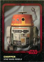 2016 TOPPS STAR WARS TRADER PHYSICAL RED CARD #91 CHOPPER W/UNUSED CODE