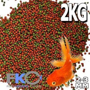 FKC Premium Bulk Goldfish Koi Tropical Floating Pond Fish Food Pellet 2-3mm 2Kg