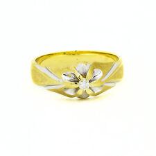 14k Yellow Gold Diamond Mens Ring Size 11  100% REAL