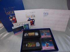 Walt Disney Masterpiece Fantasia Deluxe Collector Edition Box Set w/ Lithograph