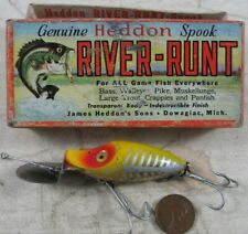 Vintage 1950's Fishing Lure Heddon Go-Deeper River-Runt in Box D 9110