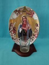 """THE FRANKLIN MINT  """"CORONATION OF MARY""""  PLATE & VOTIVE HOLDER    LE   1998"""