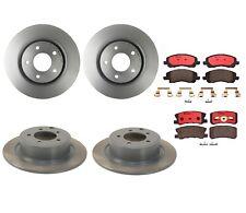 Front and Rear Brembo Brake Kit Disc Rotors Ceramic Pads For Chrysler Dodge Jeep