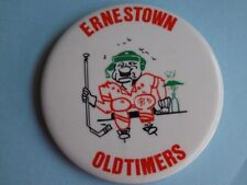 ERNESTOWN OLD TIMERS HOCKEY TEAM VINTAGE LARGE BUTTON PIN CANADA