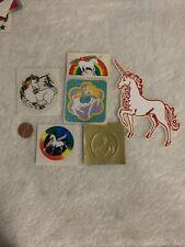 Vintage Lot of Unicorn Stickers 80s 6