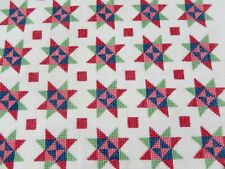Vintage Unfinished Star Quilt Bedspread Artisan Dollhouse Miniature 1:12