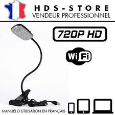 LMPB LAMPE CAMÉRA ESPION IP WIFI HD 720P MICRO SD JUSQU'À 256 GO DÉTECTION P2P