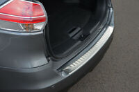 For Nissan X-Trail (2014+) - Rear Bumper Protector Scratch Guard Brushed Steel