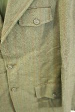 "FOREMAN & CLARK  Olive & Rust Herringbone Vtg Wool 42"" chest Suit Jacket Blazer"