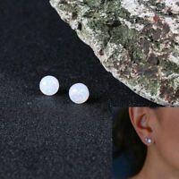Jewelry Lady Silver For Women Ear Cartilage Earrings Opal Stone Ear Stud